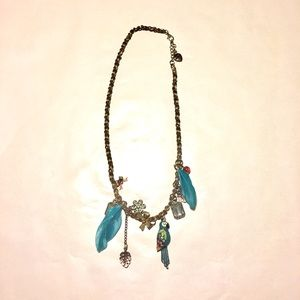 Betsey Johnson Jewelry - Betsey Johnson Blue Parrot Charm Necklace